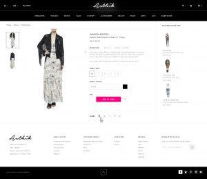 A screenshot of the Asthik website