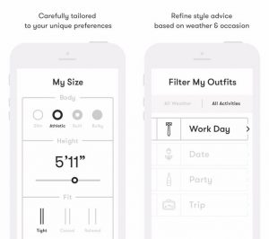 App created by app developers Toronto that chooses the proper outfit for your day.