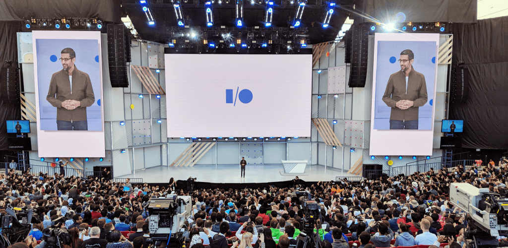 Google I/O keynote where many new technologies that uses Google AI were presented