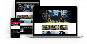 Screenshots of the FitWear e-commerce website that 247 Labs developed