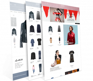 Screenshots of the Asthik e-commerce website that 247 Labs developed