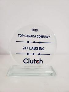 247 Labs chosen by Clutch as a Top Canadian Company in 2019