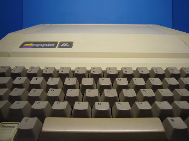 Photo of an Apple II computer by Richard Rutter